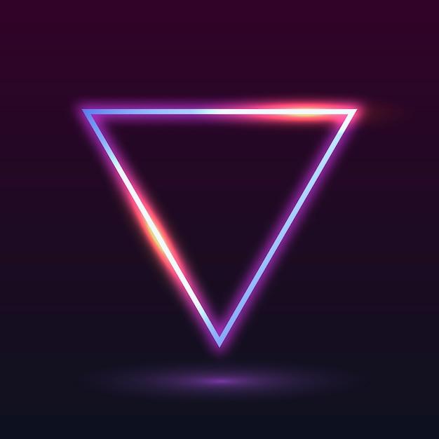 Neon light frame Free Vector