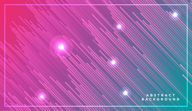 Neon light particles, shooting stars, meteorites flying at high speed on dark space Premium Vector