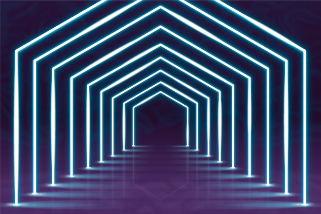 Neon lights abstract background Free Vector