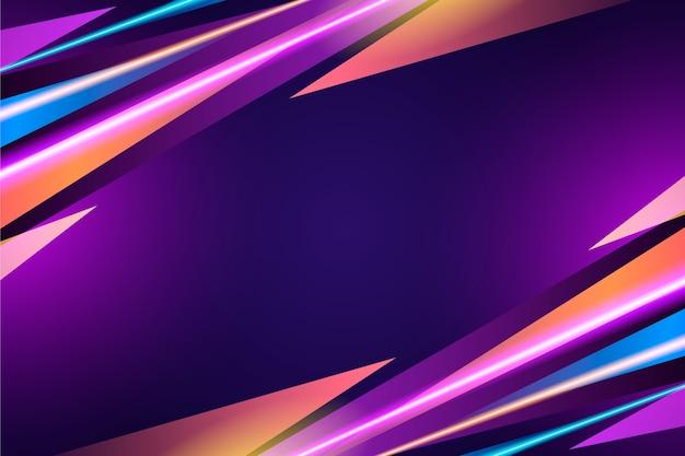 Неоновые огни фон абстрактный дизайн Бесплатные векторы