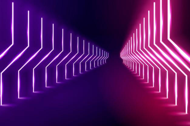 Концепция фон неоновые огни Premium векторы