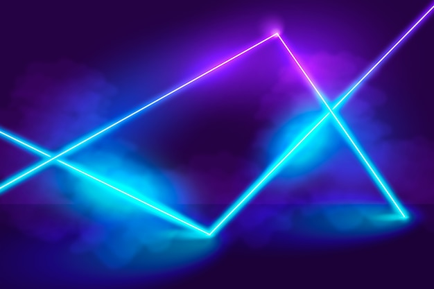 Neon lights background concept Free Vector