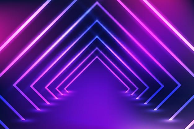 Неоновый свет дизайн фона Premium векторы