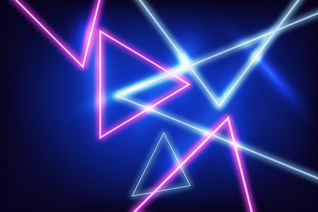 Progettazione del fondo delle luci al neon Vettore gratuito