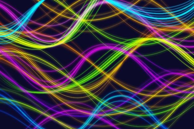 Neon lights background design Free Vector