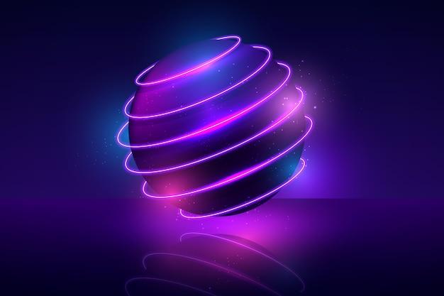 Неоновые огни дизайн фона Бесплатные векторы