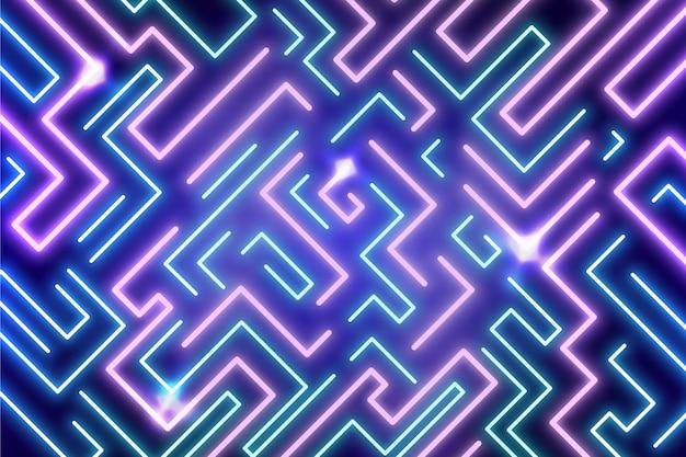 Neon lights vibrant background Free Vector