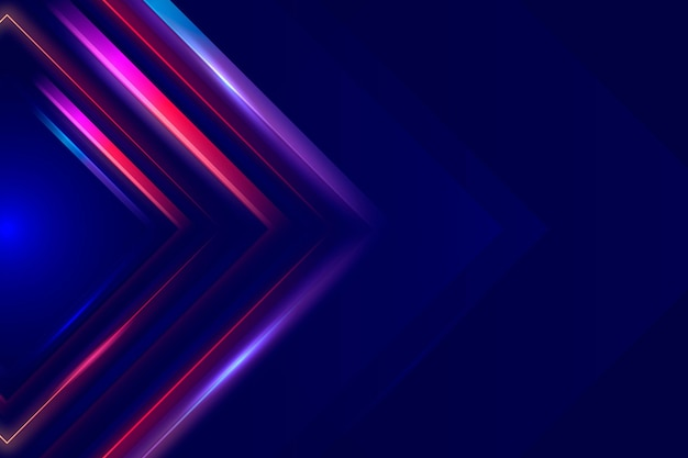 Neon lights wallpaper Free Vector
