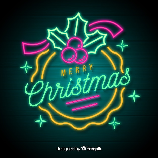 neon merry christmas background 23 2148003232
