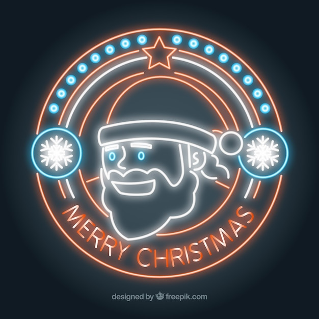 Neon santa claus background