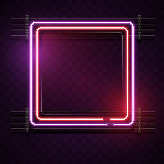 2f65150f Neon square background Vector | Free Download
