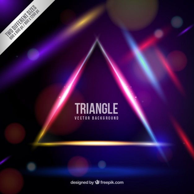 Neon Triangle Background Vector Free Download
