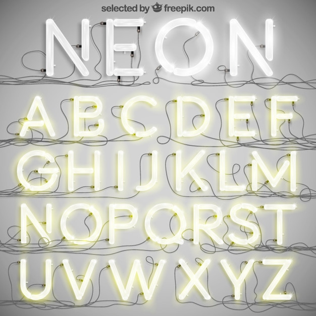 Neon typography Free Vector