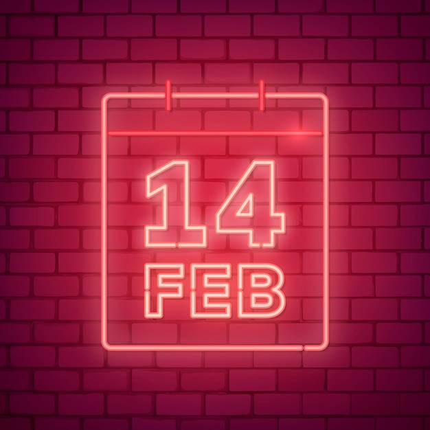 Neon valentine's day illustration Free Vector