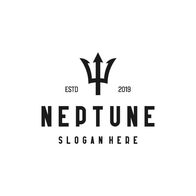 Neptune logo with designタイプ Premiumベクター