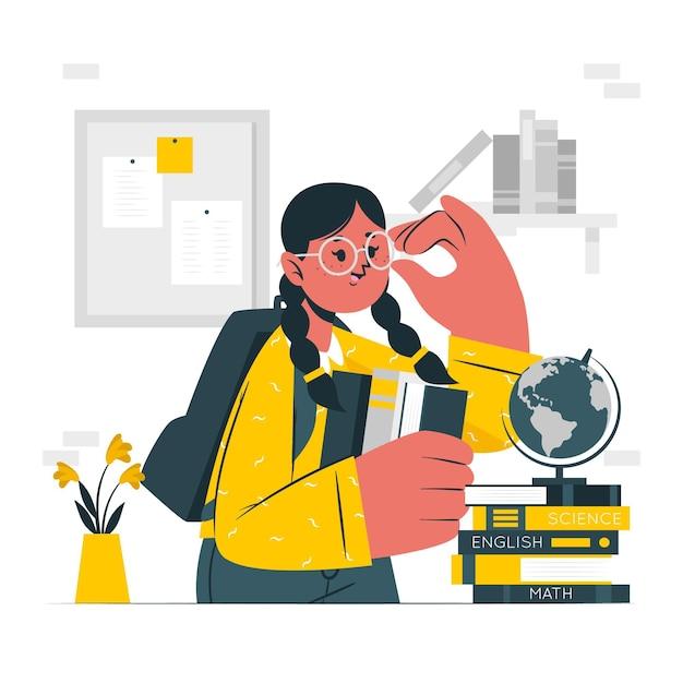 Illustrazione di concetto di nerd Vettore gratuito