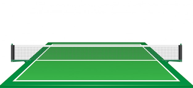 Net and table for tennis ping pong. Premium Vector