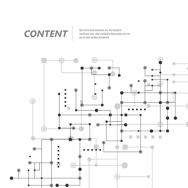 Сеть и соединить линии и точки. технология квадратного фона общения Premium векторы