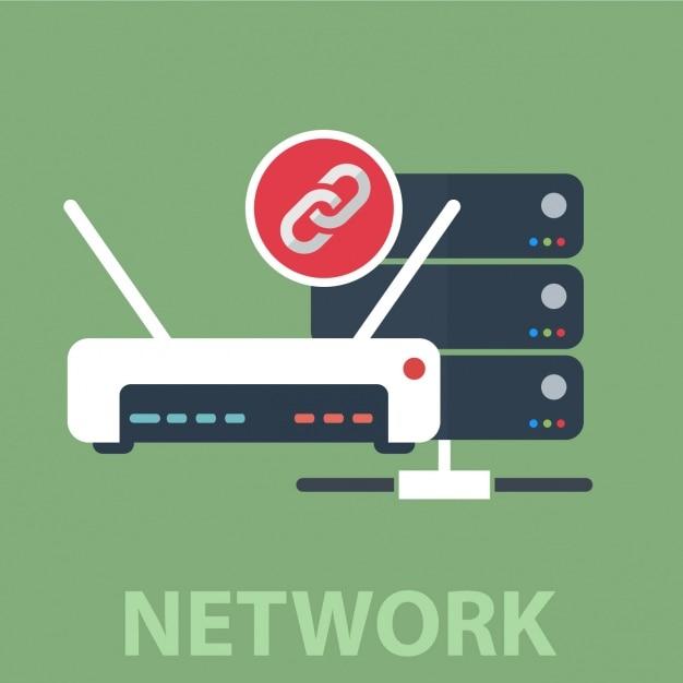 Network background design Free Vector