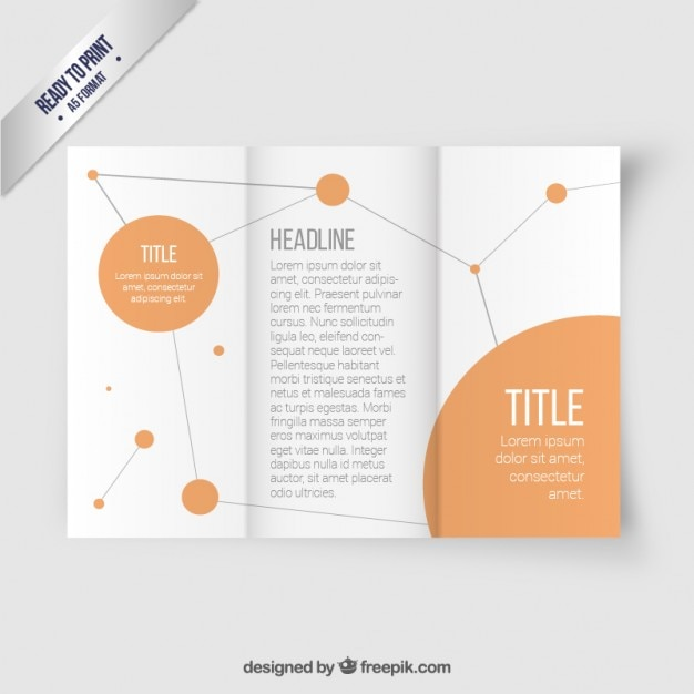 network brochure template vector free download