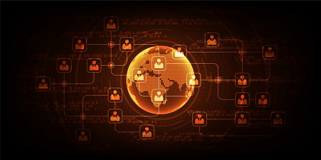 Network communication systems that are available worldwide. Premium Vector