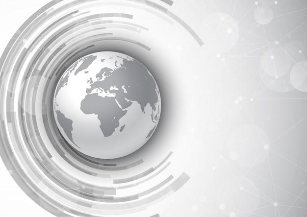 Сетевые коммуникации фон с глобусом Бесплатные векторы