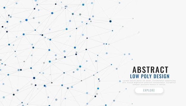 Linee di connessione di rete e sfondo tecnologico di punti Vettore gratuito