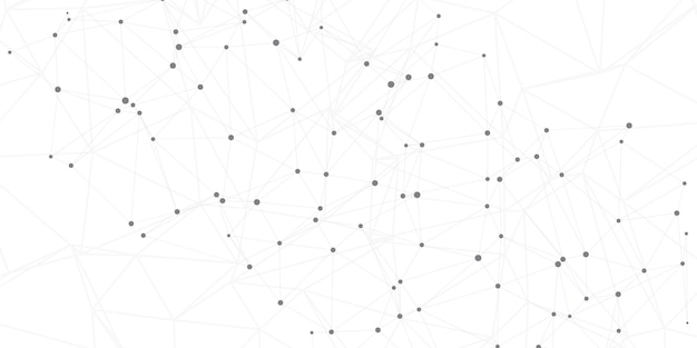 Network connections background with connecting lines and dots Free Vector