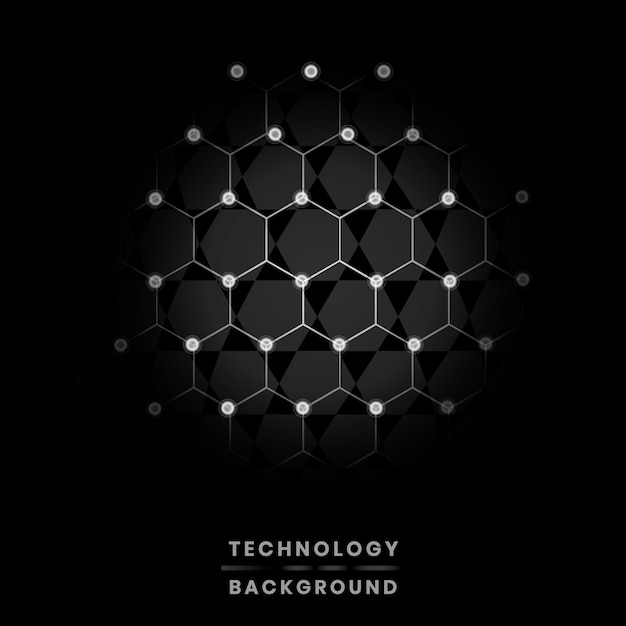 Network and technology background Free Vector