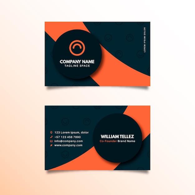 Free Vector | Neumorph business card template