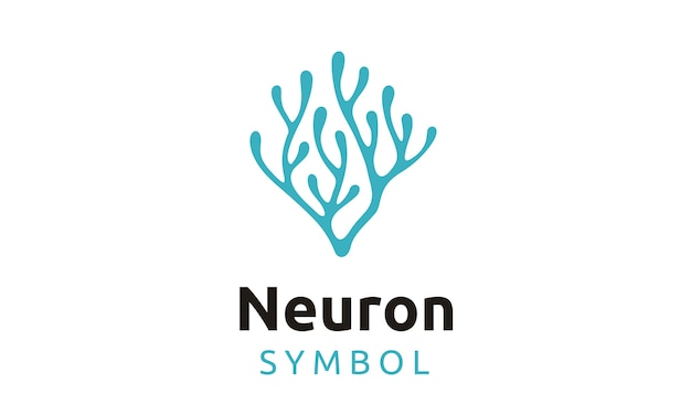 Neuron / seaweed logo design Premium Vector