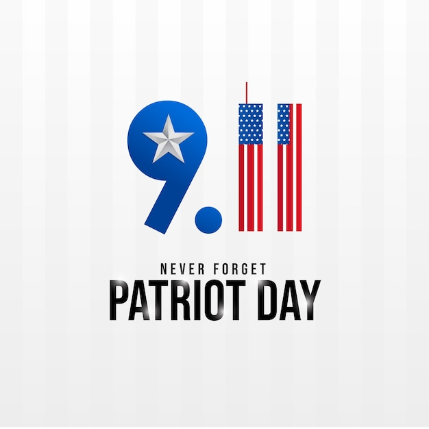 Never forget 9/11 patriot day Premium Vector
