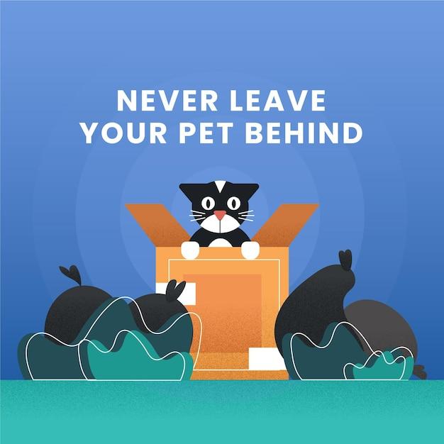 애완 동물을 버리지 마십시오 무료 벡터