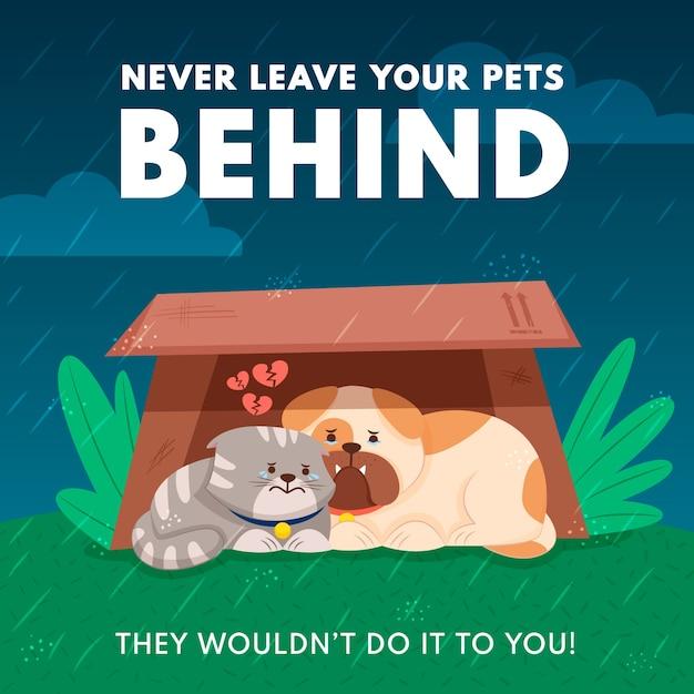 ペットを置き忘れないでください 無料ベクター