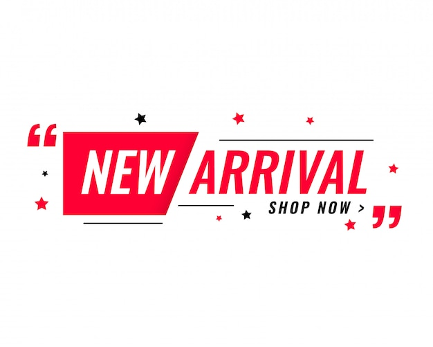 New arrival simple modern banner Free Vector