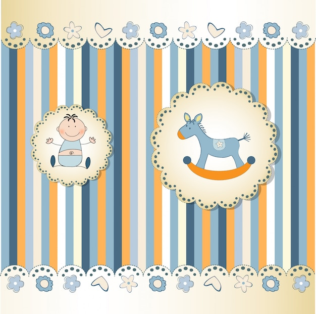 New baby greeting card Premium Vector