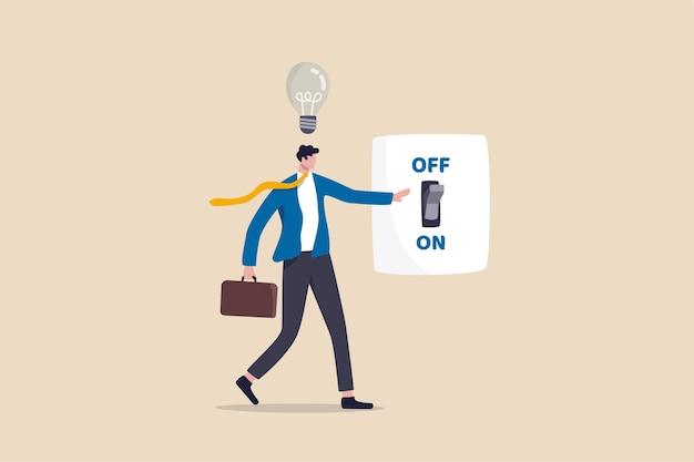 新しいビジネスアイデア、新しいアイデアのコンセプトについて考えるためのインスピレーションと創造性 Premiumベクター