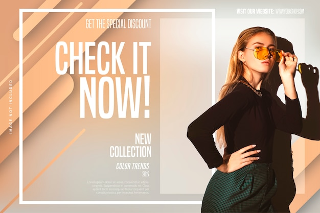 New collection banner template Free Vector