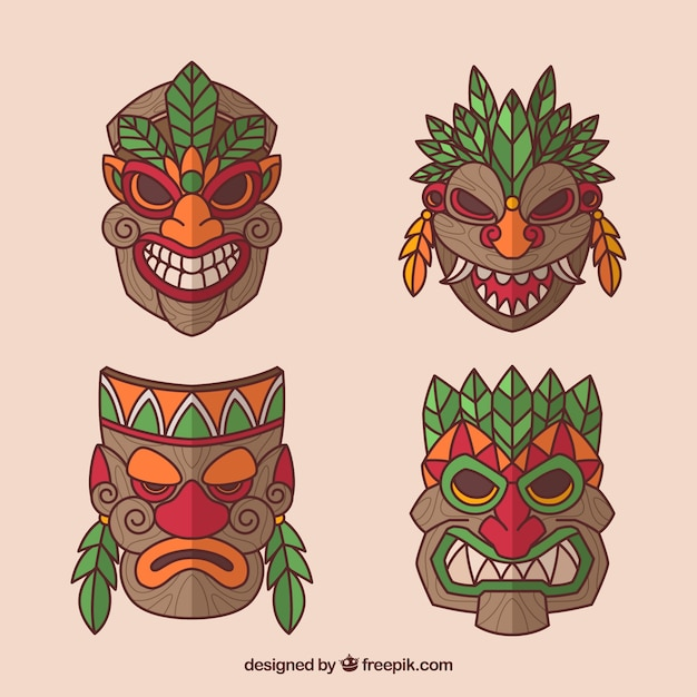 New collection of traditional tiki masks