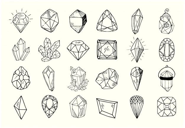 New crystals Premium Vector