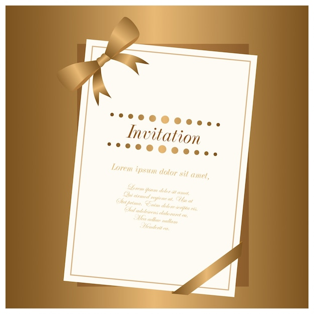 new elgant brown gradient and white color invitation card