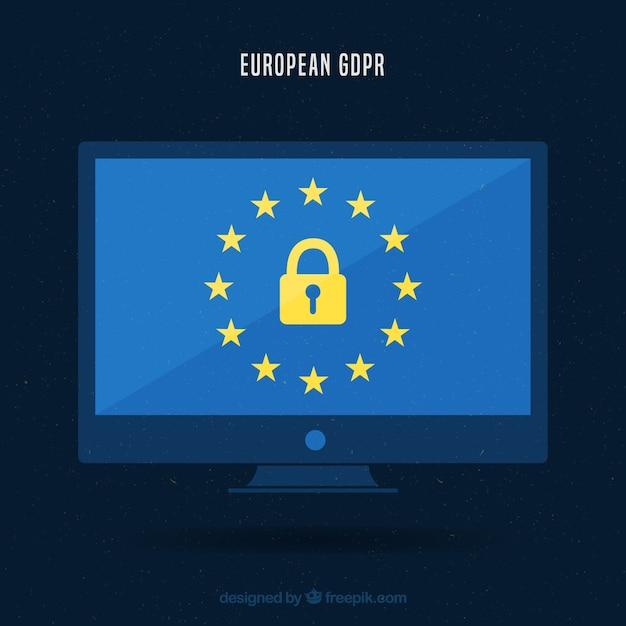 New european gdpr concept Free Vector