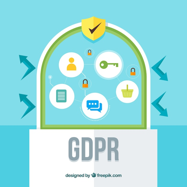 New gdpr concept with flat design Free Vector