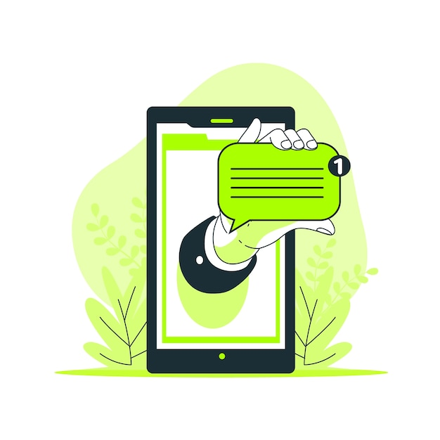 New message concept illustration Free Vector