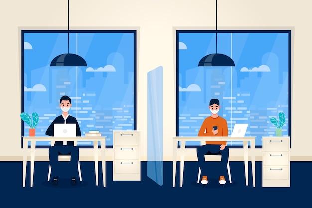オフィスコンセプトで新しい通常 Premiumベクター
