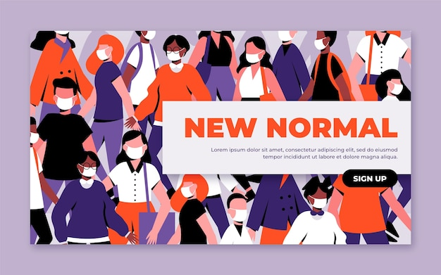 New normal banner template Free Vector