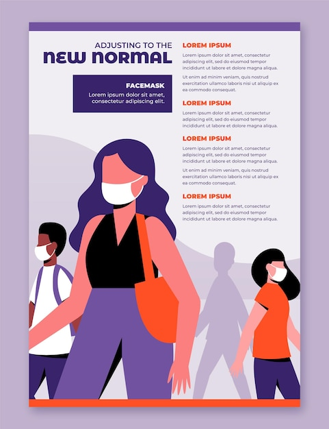 New normal poster template Free Vector