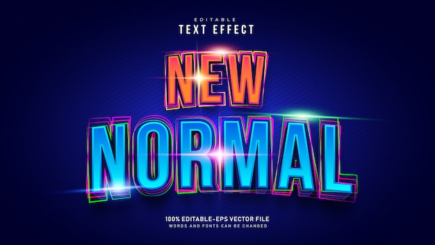 New normal text effect Free Vector