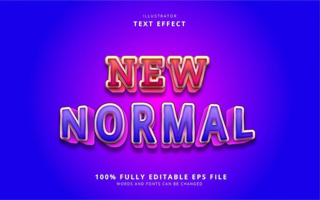 Новый нормальный текстовый эффект Premium векторы