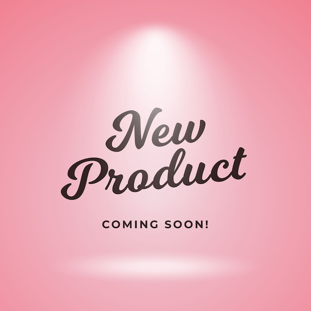New product coming soon poster background design Premium Vector